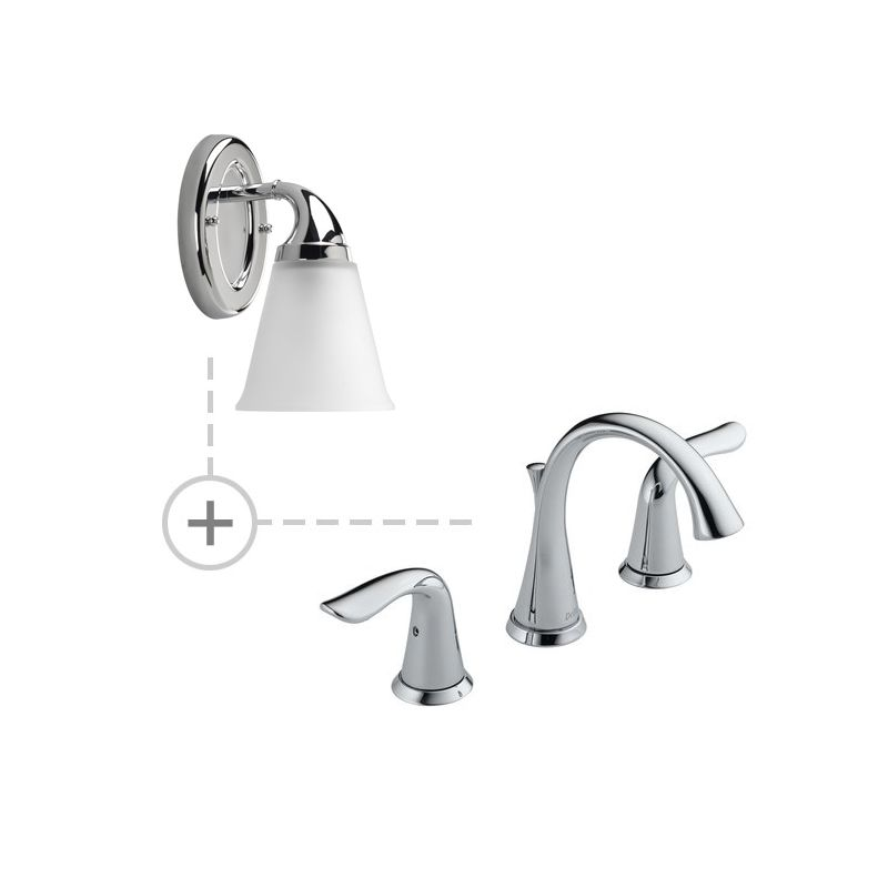 Delta 3538-MPU-DST.P2758 Lahara Widespread Bathroom Faucet with