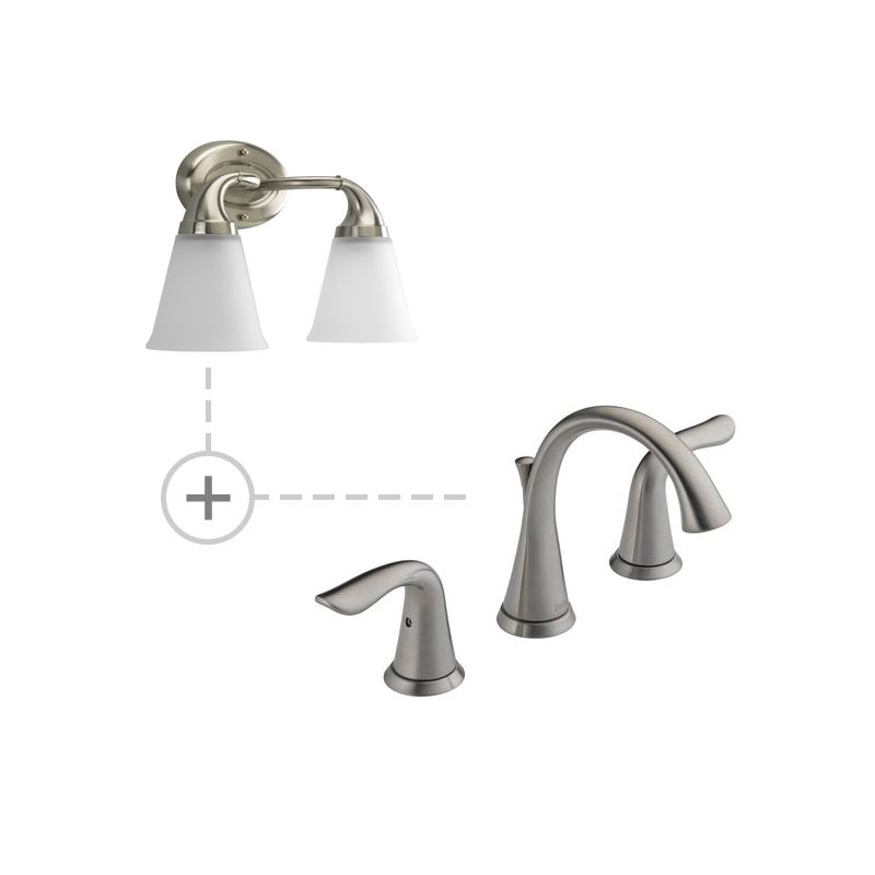 Delta 3538-MPU-DST.P2759 Lahara Widespread Bathroom Faucet with