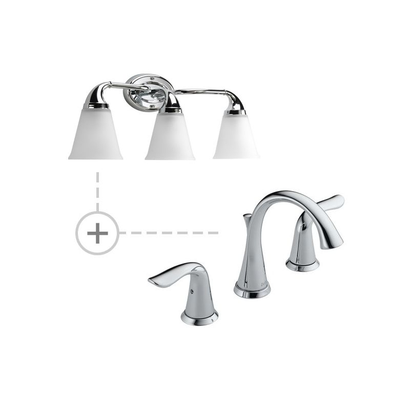 Delta 3538-MPU-DST.P2760 Lahara Widespread Bathroom Faucet with