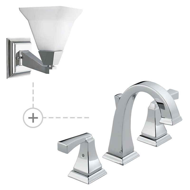 Delta 3551LF.P3135 Dryden Widespread Bathroom Faucet - Includes Two