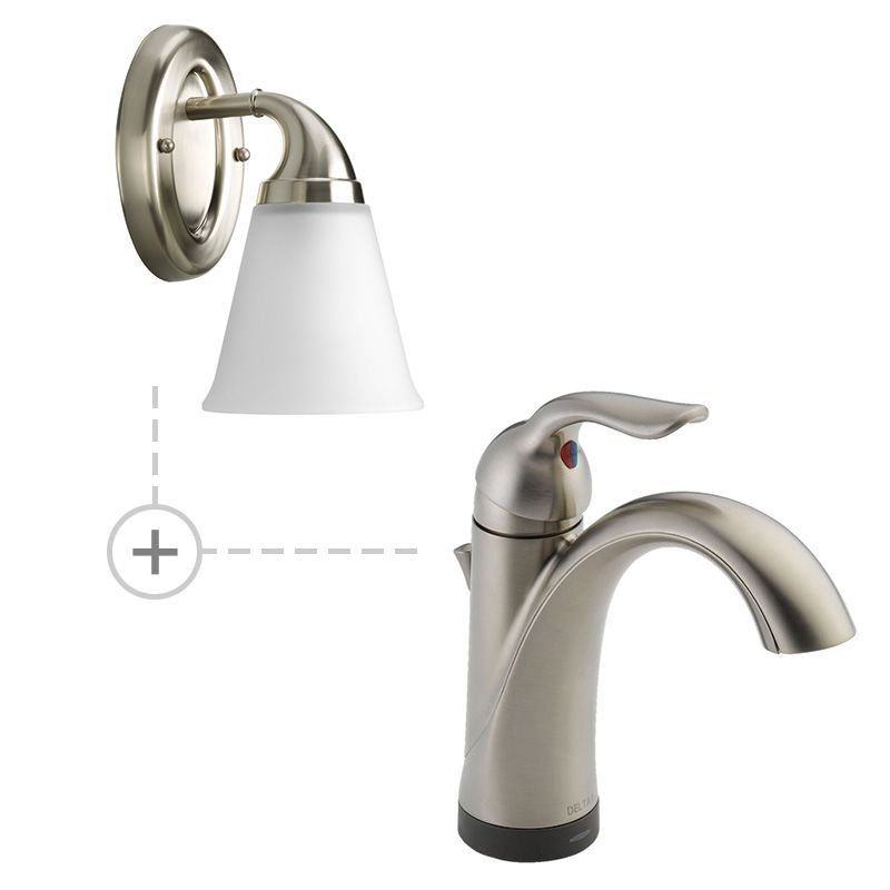 Delta 538T-DST.P2758 Lahara Single Hole Bathroom Faucet - Includes Two
