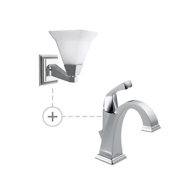 Delta 551-DST.P3135 Dryden Single Hole Bathroom Faucet with Diamond