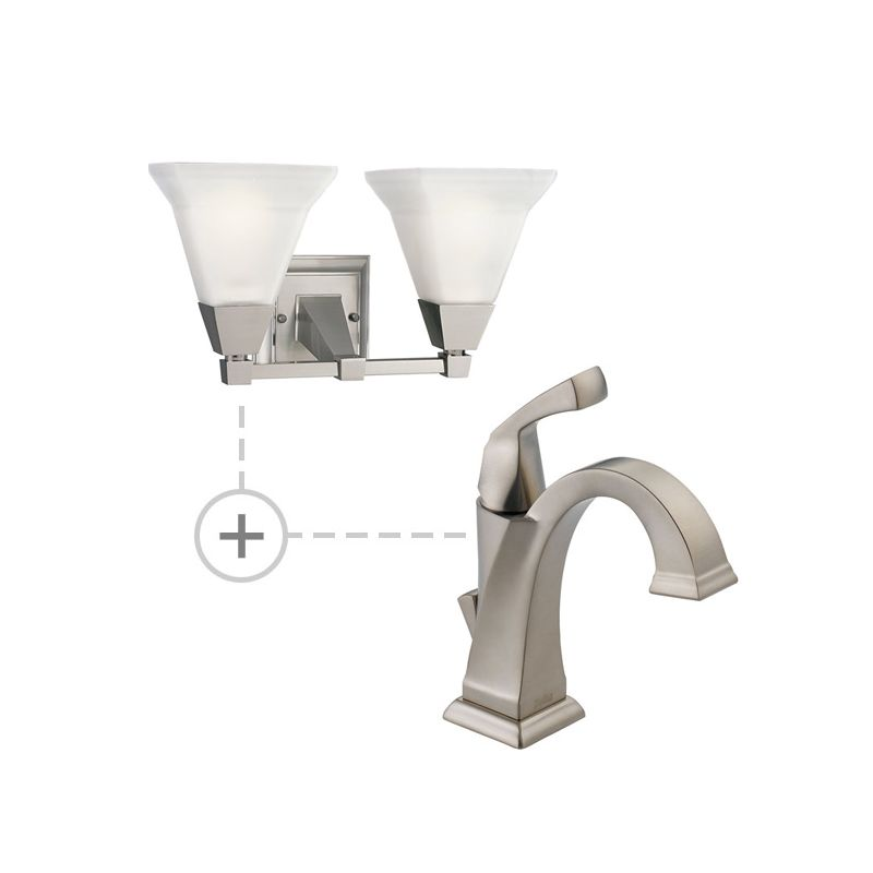 Delta 551-DST.P3136 Dryden Single Hole Bathroom Faucet with Diamond