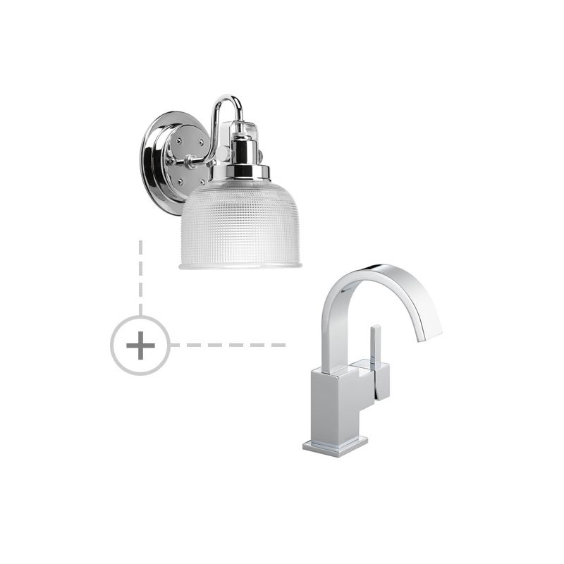 Delta 553LF.P2989 Vero Single Hole Bathroom Faucet - Includes Two