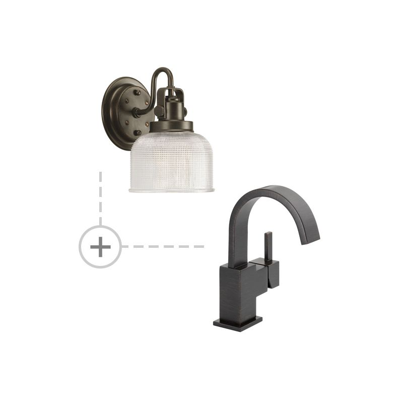 Delta 553LF.P2989 Vero Single Hole Bathroom Faucet - Includes Two