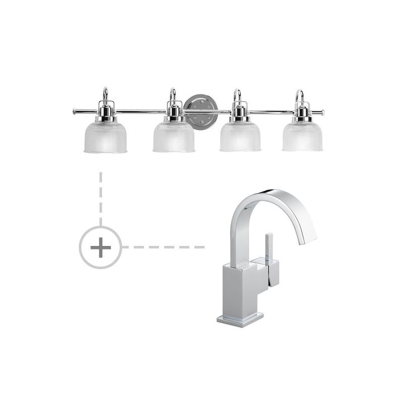 Delta 553LF.P2997 Vero Single Hole Bathroom Faucet - Includes Matching