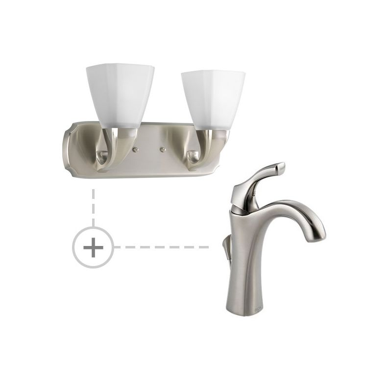 Delta 592-DST.P2847 Addison Single Hole Bathroom Faucet with Diamond