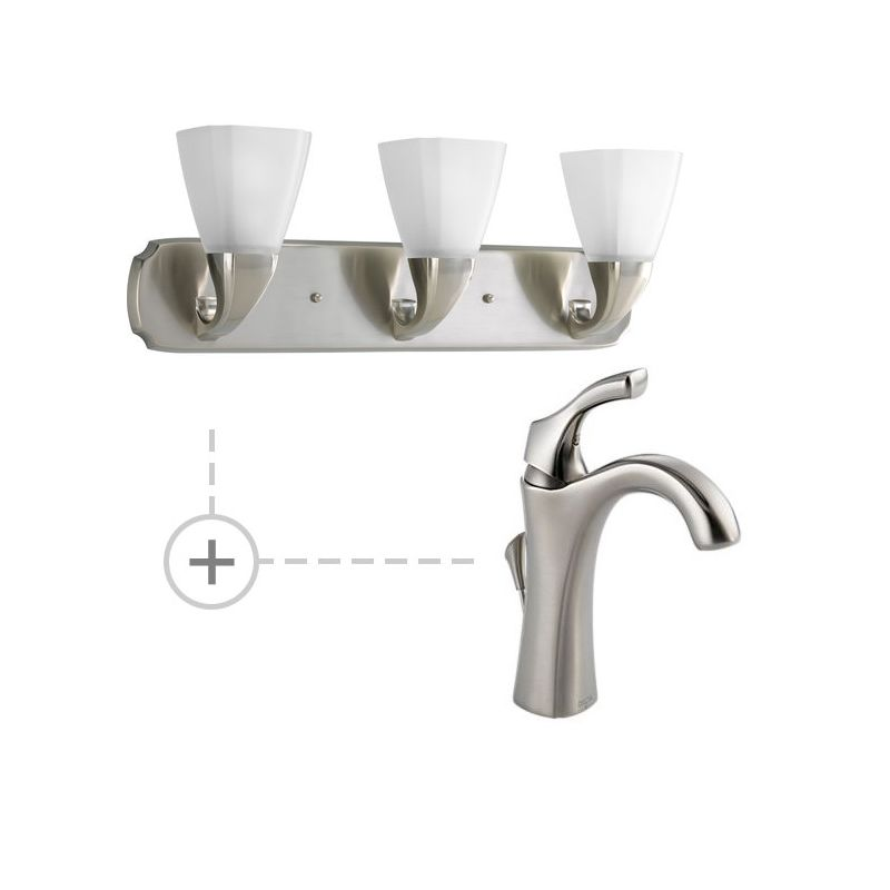 Delta 592-DST.P2848 Addison Single Hole Bathroom Faucet with Diamond