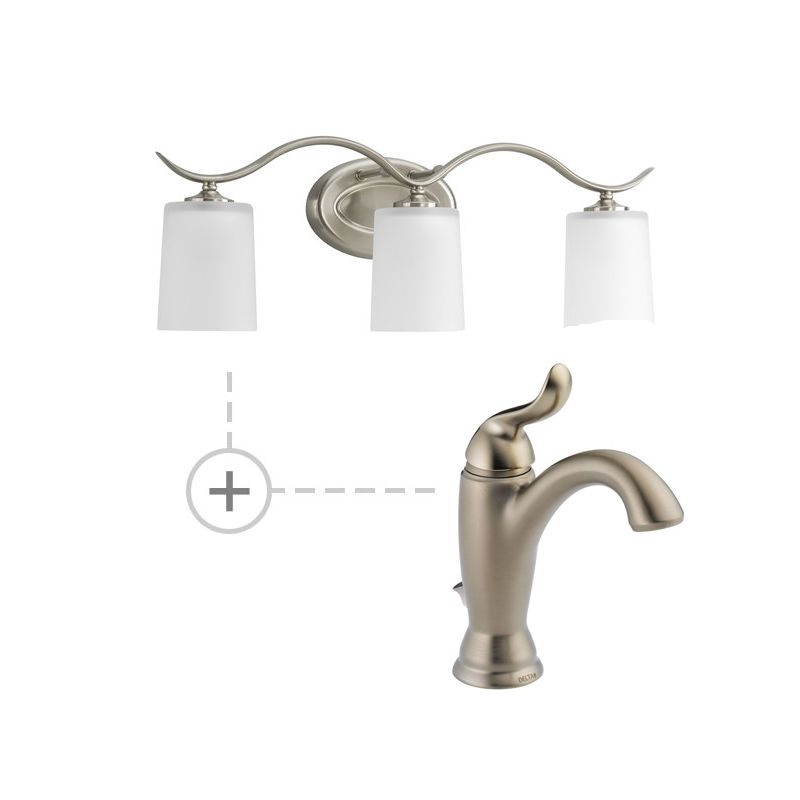 Delta 594-MPU-DST.P2020 Linden Single Hole Bathroom Faucet with