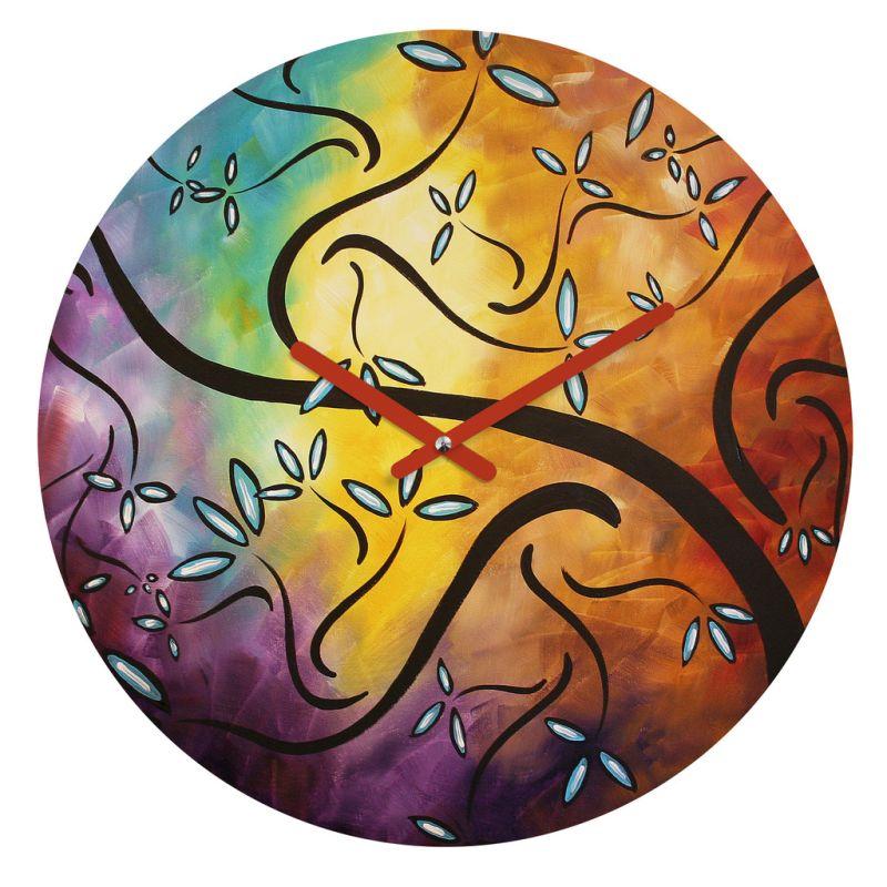 Deny Designs Sweet Blossom Wall Clock Madart Inc Round Clock