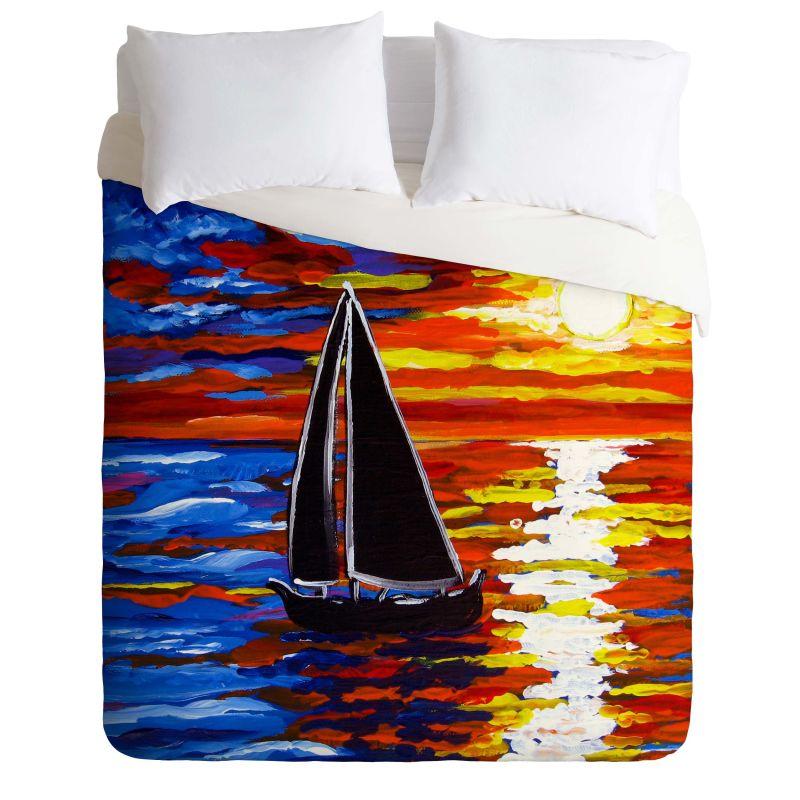 Deny Designs Sunset Sail Bedding Renie Britenbucher Duvet Cover King