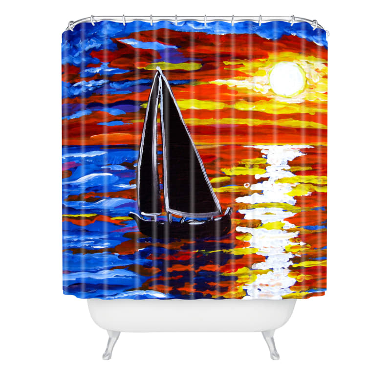 Deny Designs Sunset Sail Curtain Renie Britenbucher Shower Curtaain 69