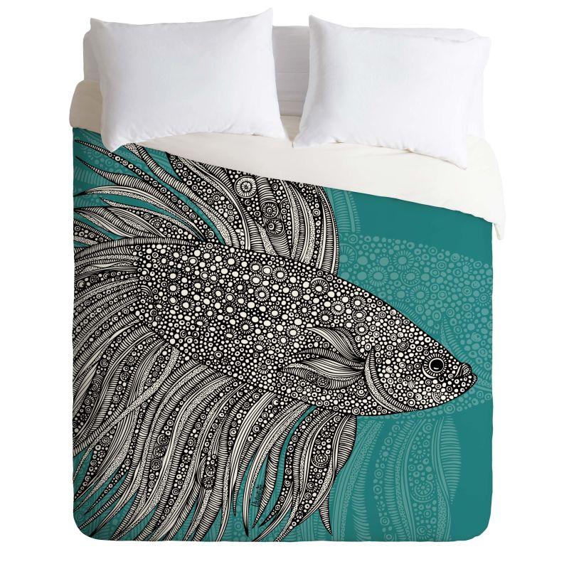 Deny Designs Beta Fish Bedding Valentina Ramos Duvet Cover King Home