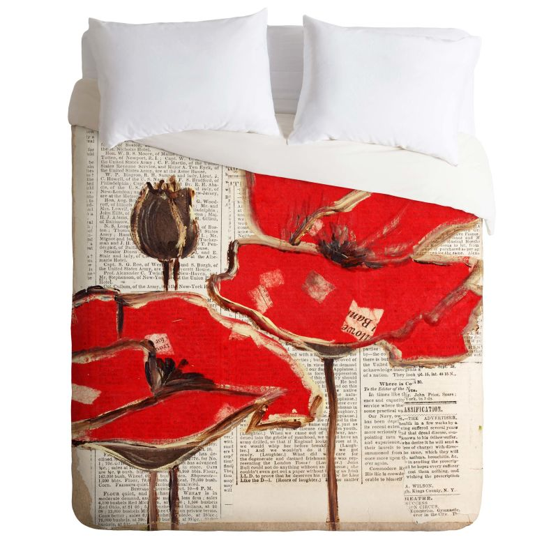 Deny Designs Red Perfection Bedding Irena Orlov Duvet Cover King Home