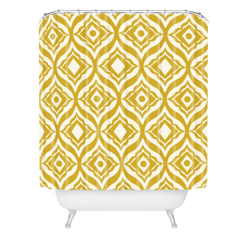 Deny Designs Trevino Yellow Curtain Heather Dutton Shower Curtaain 69