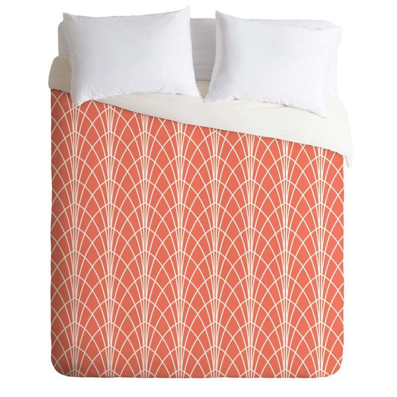 Deny Designs Arcada Persimmon Bedding Heather Dutton Duvet Cover King