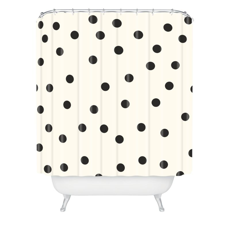Deny Designs Vintage Dots Black Curtain Garima Dhawan Shower Curtaain