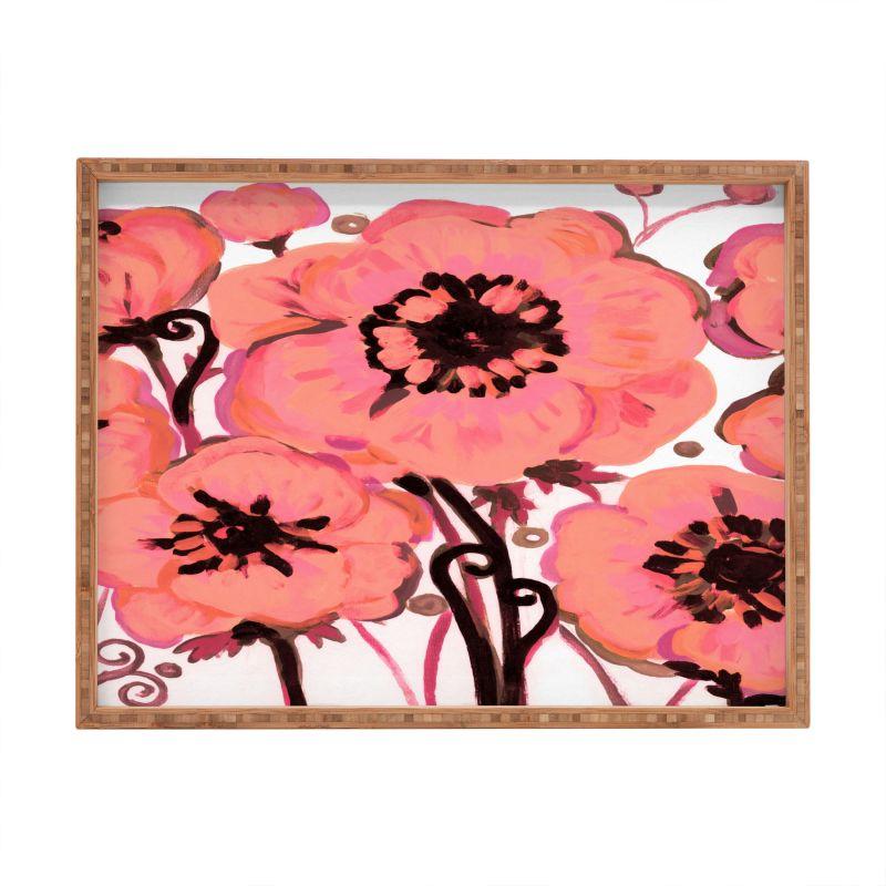 Deny Designs Anemone Pink Rectangular Tray Natash Wescoat Anemone
