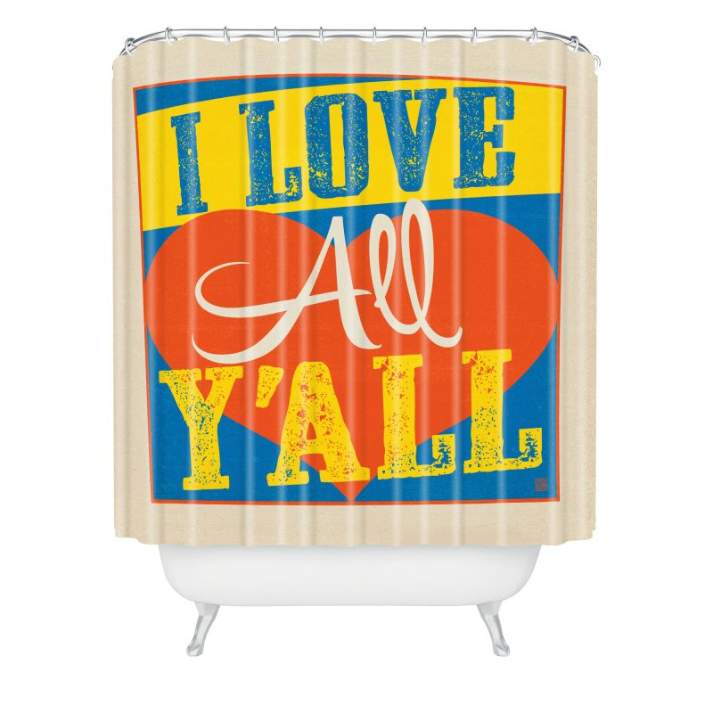 Deny Designs I Love All Yall Curtain Anderson Design Group Shower