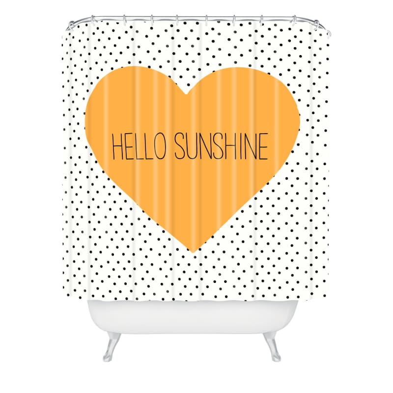 Deny Designs Hello Sunshine Heart Curtain Allyson Johnson Shower