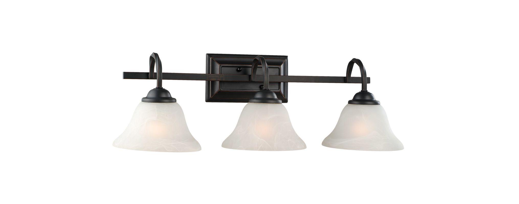 Rustic Bronze Vanity Lights : Design House 514901 Oil Rubbed Bronze Drake Rustic 3 Light Down Lighting Bathroom Vanity Fixture ...