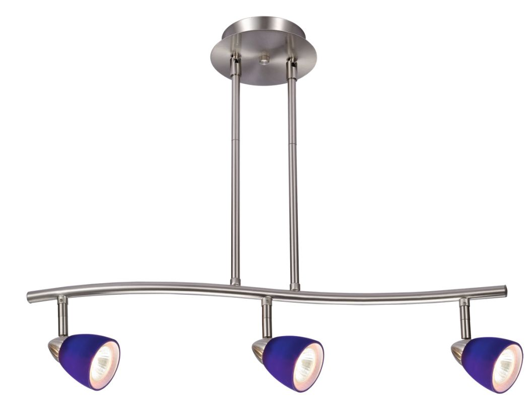 "Design House 517169 Gibson 3 Light Rail Lighting 24"" W x 20"" H Satin"