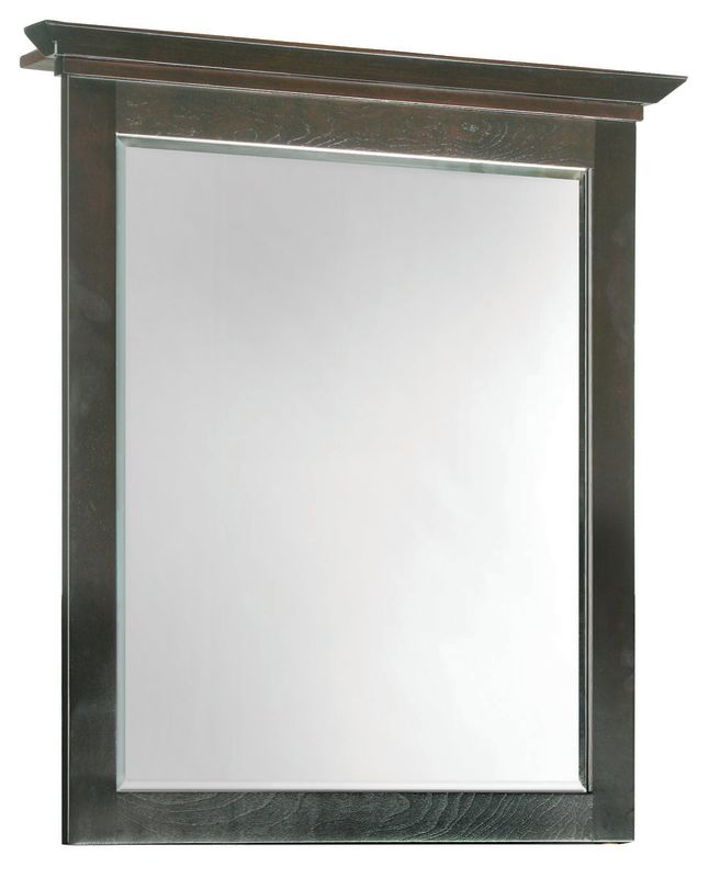 "Design House 539692 27"" Framed Mirror with Top from the Ventura"