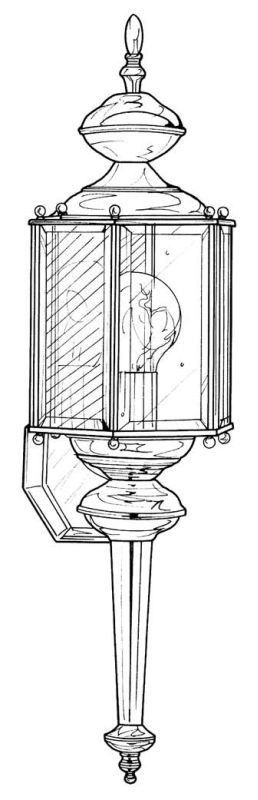 "Designers Fountain 1103-PW 1 Light 7"" Wall Lantern with Clear Beveled"