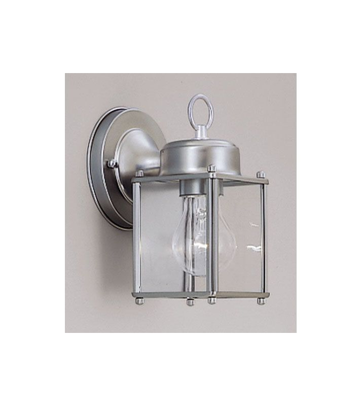 "Designers Fountain 1161-PW 1 Light 4.75"" Wall Lantern Pewter Outdoor"