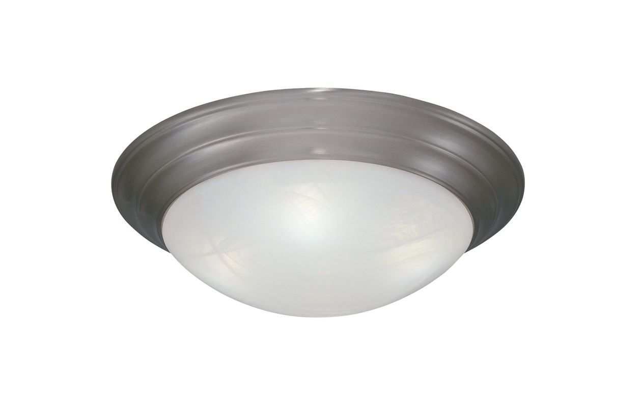 "Designers Fountain 1245S-PW 1 Light 11.5"" Small Size Flush Mount with"