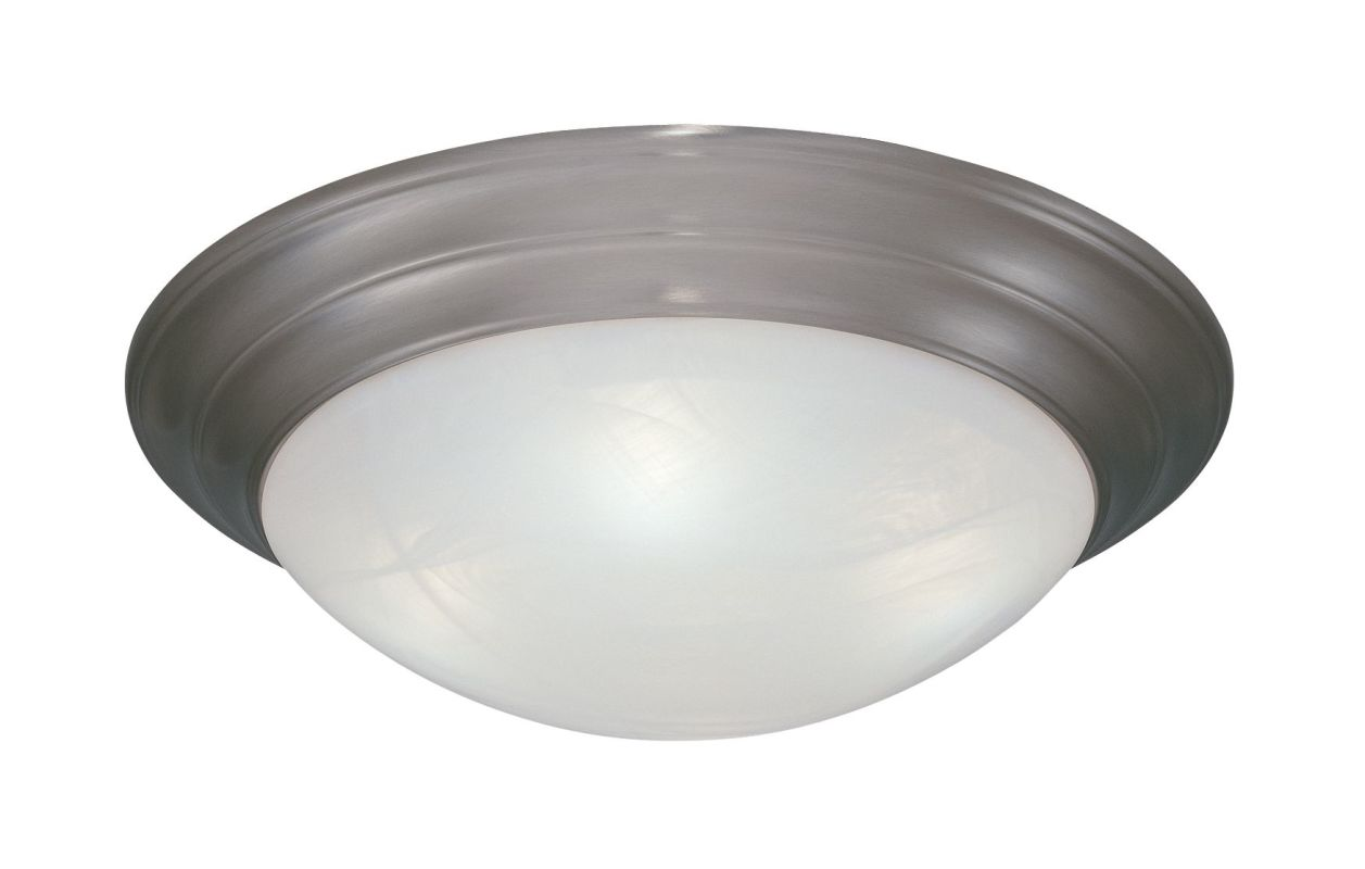 "Designers Fountain 1245M-PW 2 Light 14"" Medium Size Flush Mount with"