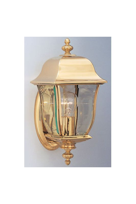 "Designers Fountain 1532-PVD-PB 1 Light 6"" Wall Lantern Solid Brass PVD"