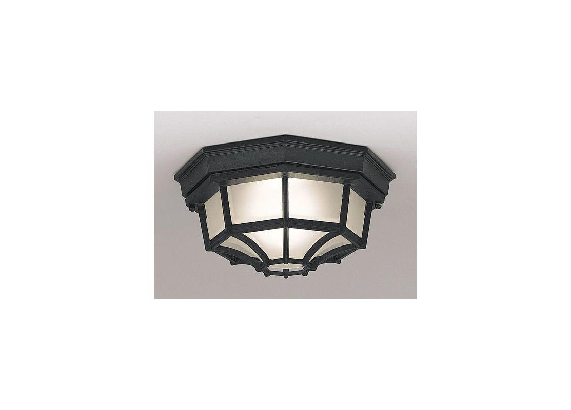 "Shop Cascadia Lighting 4 Light Standford Brushed Nickel: Designers Fountain 2067-BK Black 1 Light 10"" Flush Mount"