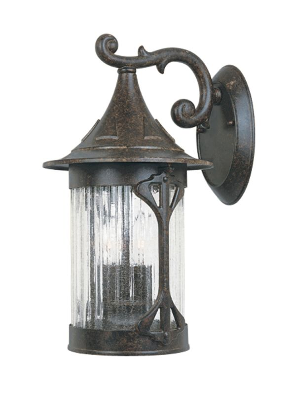 "Designers Fountain 20921-CHN 3 Light 9"" Cast Aluminum Wall Lantern"
