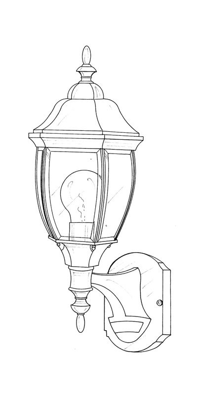"Designers Fountain 2420MD-AG 1 Light 6.5"" Wall Lantern with Motion"