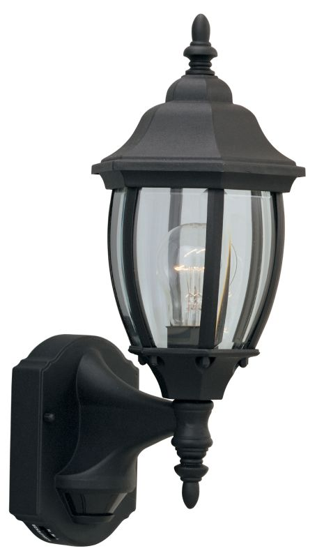 "Designers Fountain 2420MD-BK 1 Light 6.5"" Wall Lantern with Motion"