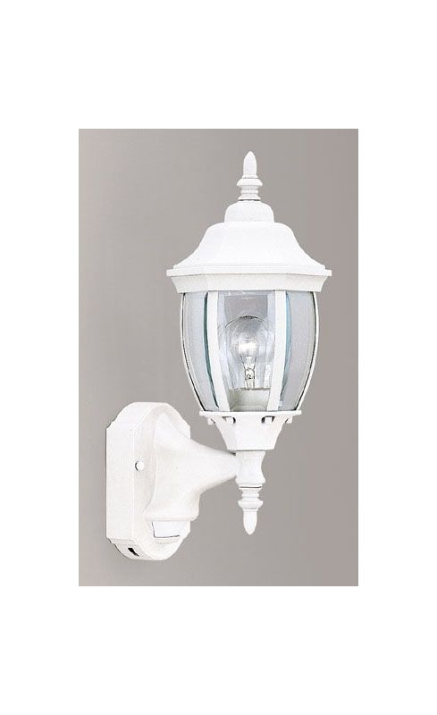 "Designers Fountain 2420MD-WH 1 Light 6.5"" Wall Lantern with Motion"