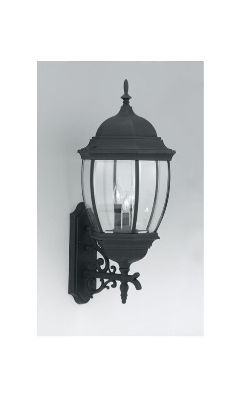 "Designers Fountain 2442-BK 3 Light 13"" Cast Aluminum Wall Lantern from"