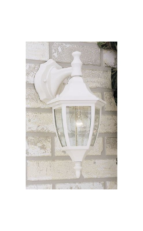 "Designers Fountain 2461-WH 1 Light 7"" Cast Aluminum Wall Lantern White"