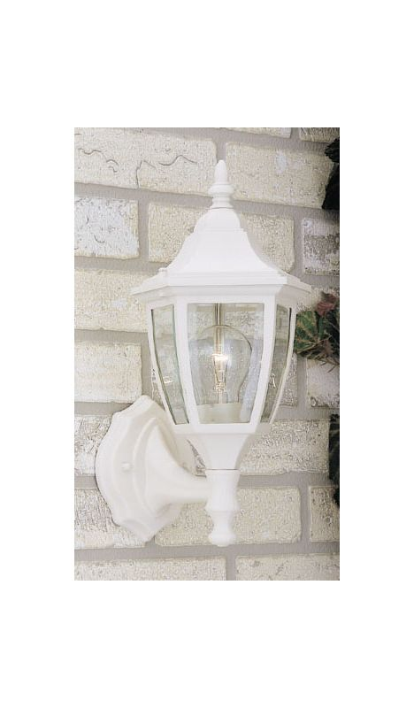 "Designers Fountain 2462-WH 1 Light 7"" Cast Aluminum Wall Lantern White"
