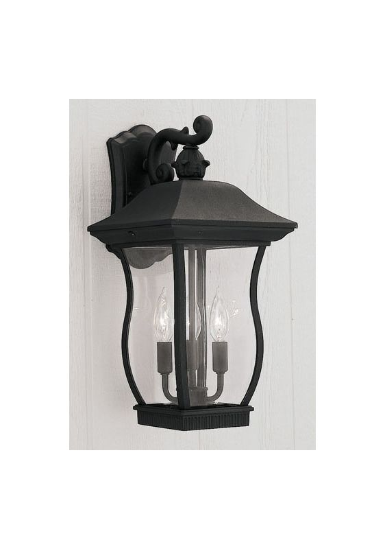 "Designers Fountain 2722-BK 3 Light 9"" Cast Aluminum Cast Wall Lantern"