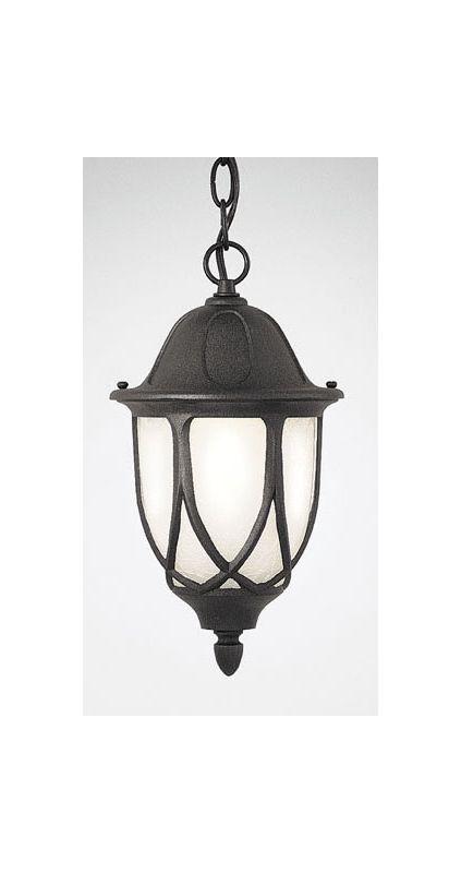 "Designers Fountain 2864-BK 1 Light 11"" Cast Aluminum Hanging Lantern"