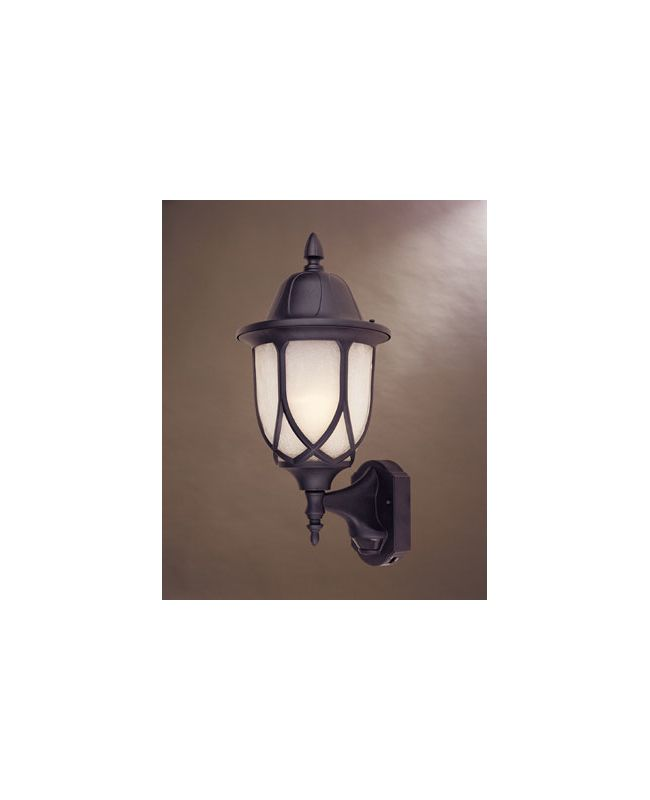 "Designers Fountain 2868MD-BK 1 Light 9"" Cast Aluminum Wall Lantern"