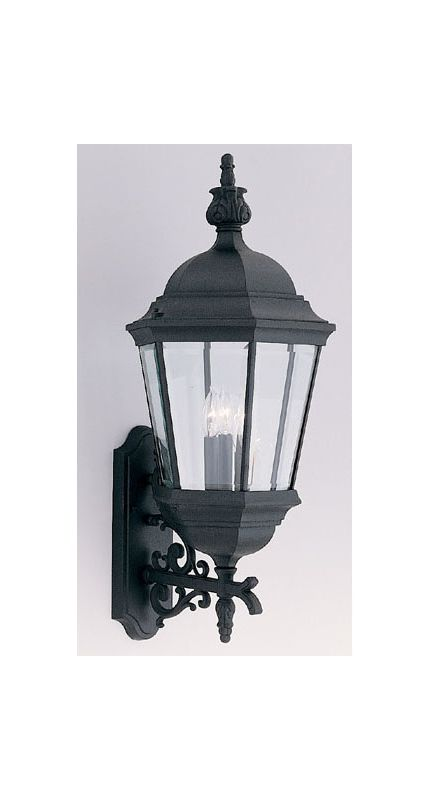 "Designers Fountain 2952-BK 3 Light 13"" Cast Aluminum Wall Lantern from"