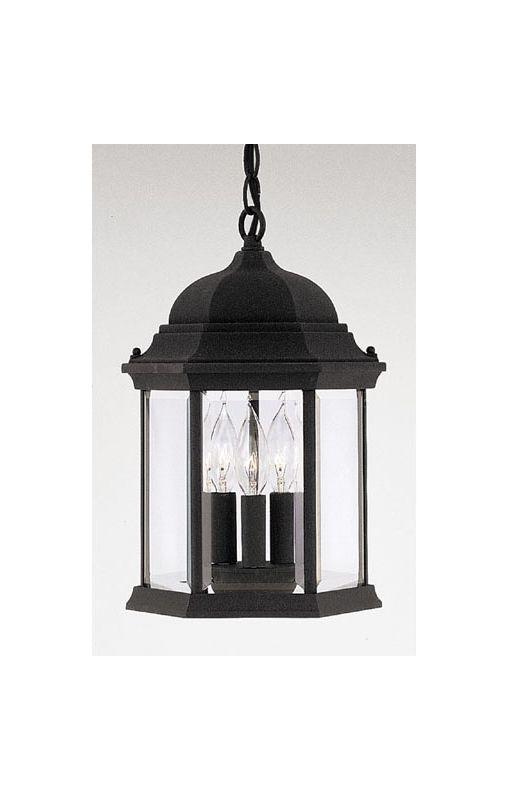 "Designers Fountain 2984-BK 3 Light 9.5"" Cast Aluminum Hanging Lantern"