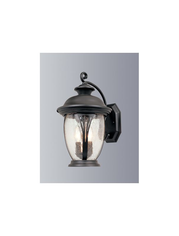 """Designers Fountain 30531-BZ 3 Light 11"""" Wall Lantern from the"""