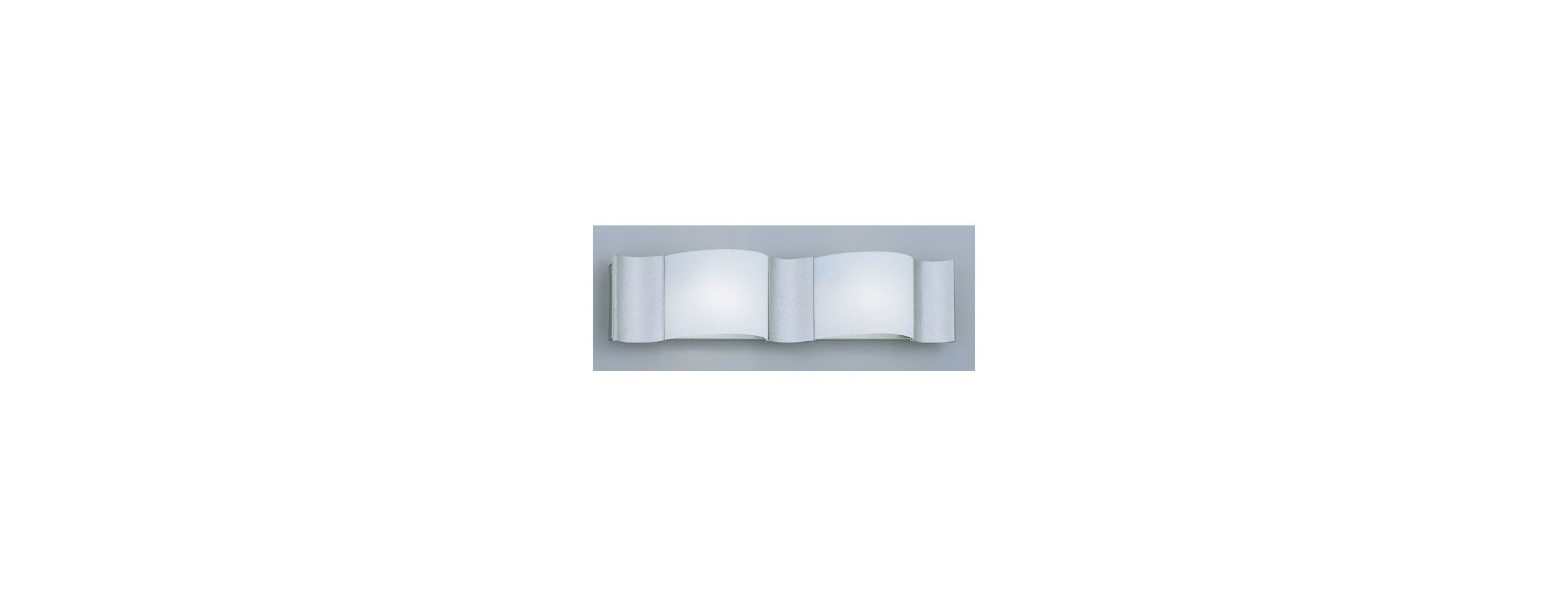 Designers Fountain 4562-SI 2 Light Bath Bar with Wave Shaped Frosted