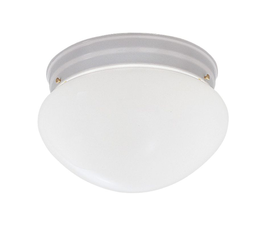 "Designers Fountain 4732-WH 2 Light 9.25"" Flush Mount with Satin Etched"