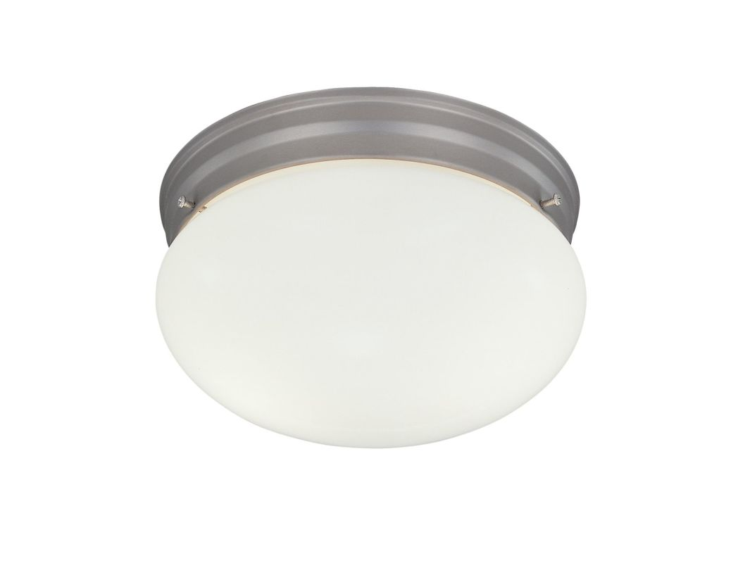 "Designers Fountain 4732-PW 2 Light 9.25"" Flush Mount with Satin Etched"