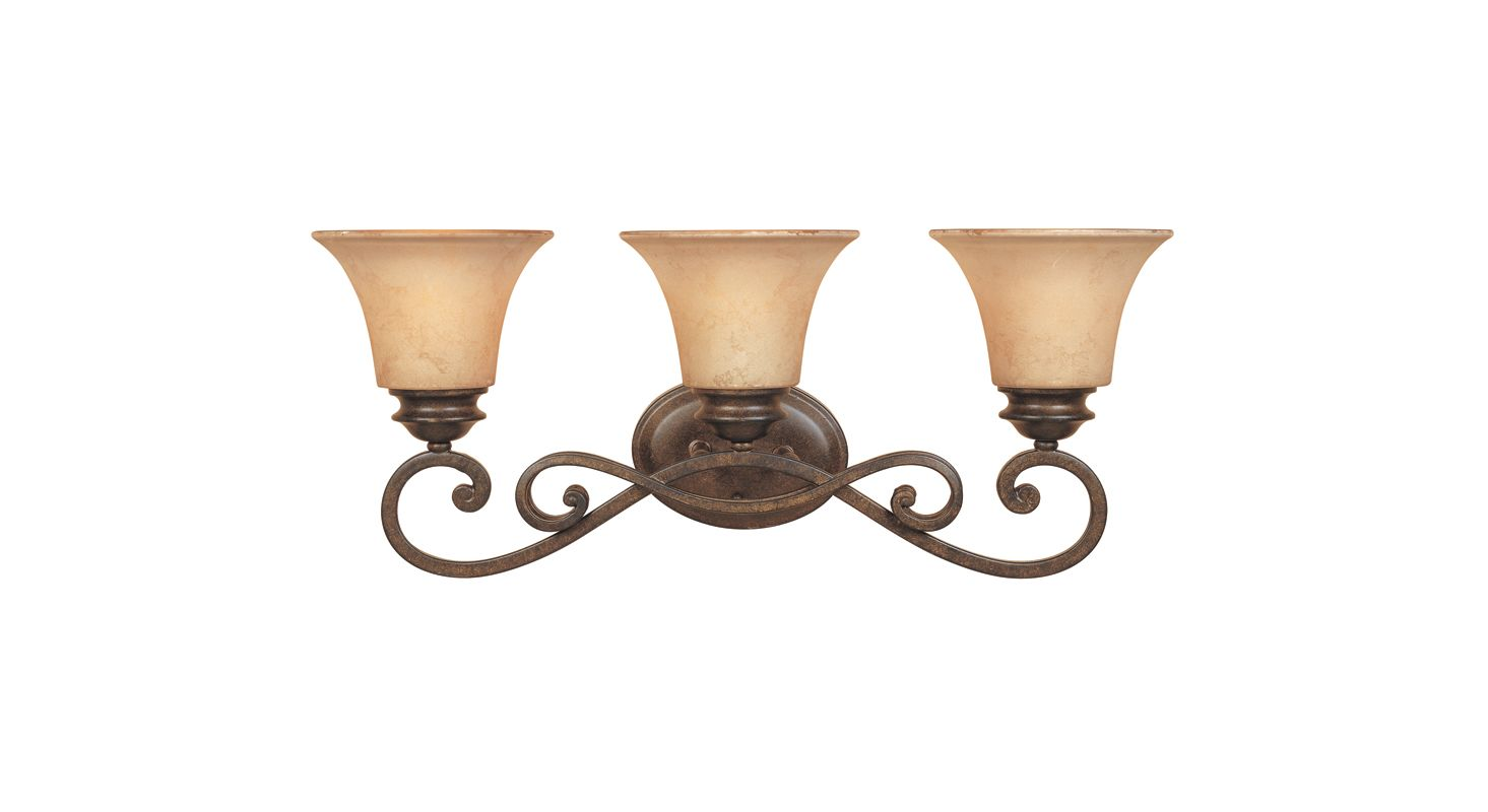 "Designers Fountain 81803 Three Light Down Lighting 24.25"" Wide"